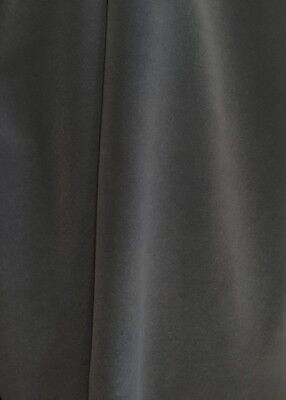 Charcoal Gray Velvet Flocking Drapery Upholstery Fabric Sold By