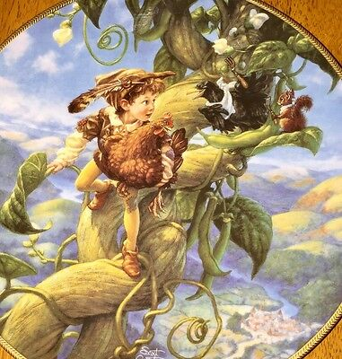 RARE JACK AND THE BEANSTALK #5 KNOWLES Scott Gustafson CLASSIC FAIRY TALES Plate