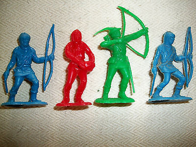 FOUR NEW ZEALAND MADE 54MM CEREAL ROBIN HOOD FIGURES  Lot 1