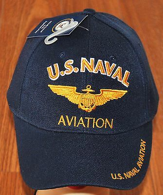 a35720c1455 US Navy Naval Aviation Hat Ball Cap Veteran Military Pilot Wings Marine  Corps