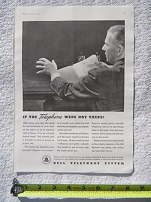 Original vintage print ad, 1935 Bell Telephone System FREE HIPPING