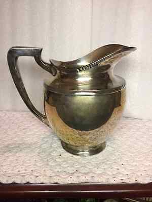 """Vintage ?  Silver Co. 8"""" Silver Plated Water Pitcher # 381C"""