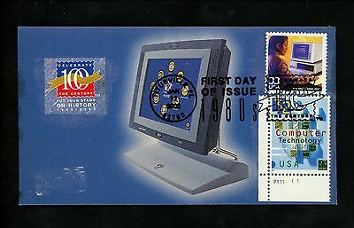 Ranto Cachet US FDC #3190n on Brochure CTC w/ #3106 Computer Technology  2000