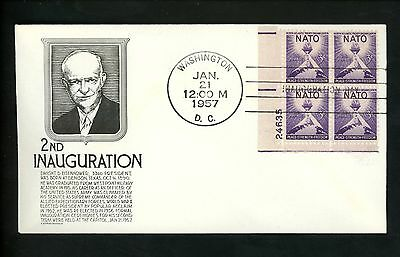 US Inauguration Day FDC Dwight D Eisenhower DDE 1/21/1957 Anderson DDE-II-1