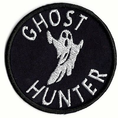 Ghost Hunting  applique patch Iron or Sew on  Patch