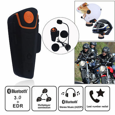 1000m Bluetooth Waterproof BT-S2 Motorcycle Motorbike Helmet Intercom Headset+FM