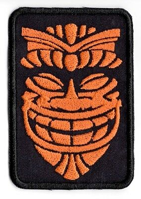 Hawaain Tiki Mask Native applique patch Iron or Sew on Patch