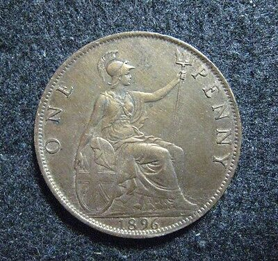 1896 Great Britain One Penny Victoria KM 790 Extreme High Grade,  Take a Look !