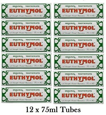 Euthymol Original Toothpaste 75ml - 12 Pack