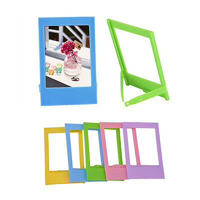 5x Lovely Instax Mini Polaroid Stand Photo Frame Plastic DIY Table Decoration