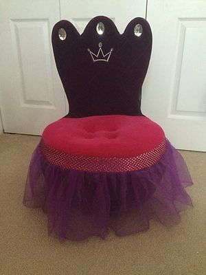 Brand New Girls Princess Crown Chair Chaise