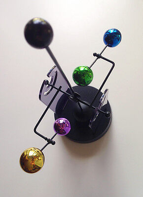 JUPITER #869W Perpetual Motion Newton's Cradle-Style KINETIC TOY/Desk Accessory