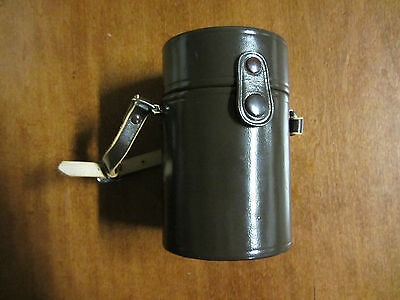 """NIKKOR NIKON LENS Brown Leather Case with Strap 5.5"""" x 3.5"""" - Beautiful!"""