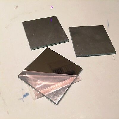 """Laser Optics,  2"""" X 2""""  First Surface, Mirror Only, One Lot of 3"""