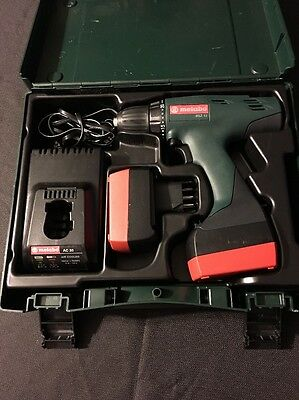 "Metabo BSZ 12 12V 1/2"" Cordless Drill, 2 Batteries, Charger, Case, NEW Old Stock"