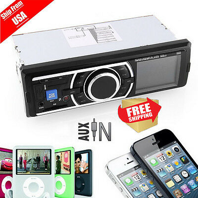 Car Audio Stereo MP3 Player USB SD AUX Auto FM Radio Receiver Gift OH