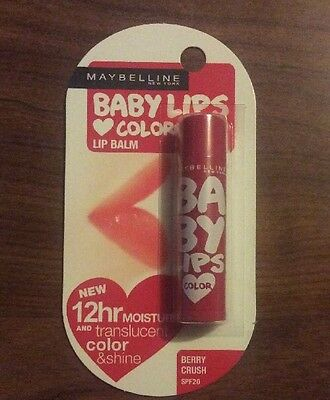 4 x Maybelline Baby Lips Color Lip Balm - BERRY CRUSH - SPF20 - 4g NEW