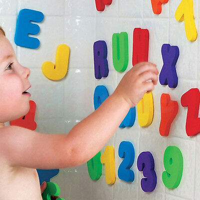 Baby Kids 36pcs Sponge Foam Letters & Number Floating Bath Tub Swimming Play Toy
