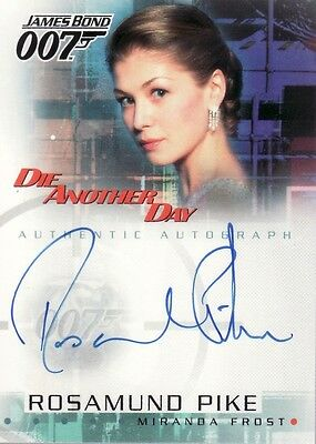 James Bond Die Another Day Rosamund Pike as Miranda Frost A5 Auto Card