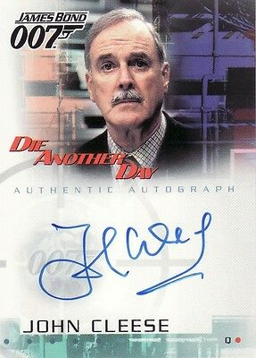 James Bond Die Another Day John Cleese as Q A1 Auto Card