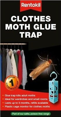 Rentokil Clothes Moth Glue Trap Hanging Insect & Pest Catcher | Non-Toxic