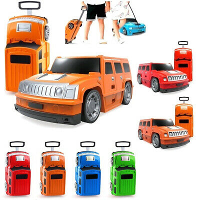 New RIDE ON Car Design Travel Suitcase Luggage Box Children Kids Bag Carry Bag