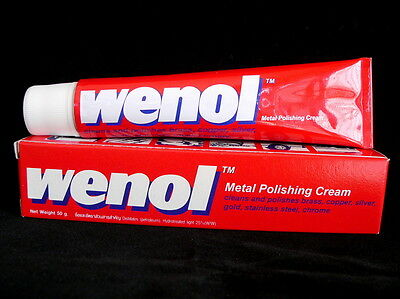 Red wenol metal cream chrome brass silver stainless steel cleaners polish 50g