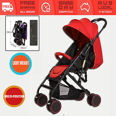 Compact Kids Travel Stroller Pram Carry On Plane Foldable Baby Pushchair Jogger