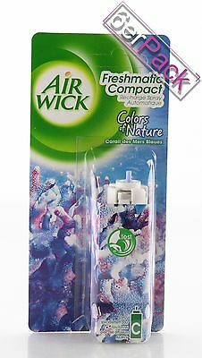 [15,24€/100ml] 6x AirWick Freshmatic Compact Blauen Meer Duftspray 24 ml