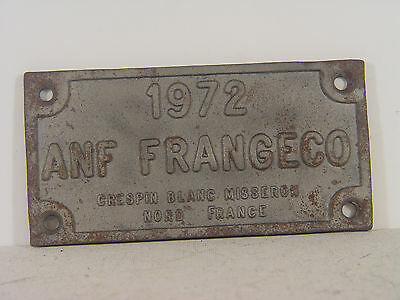 ANF Frangeco Nord France - Waggonschild 1972  - #217  #E - geb.