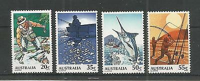 Australia 1979 Fishing Sg,724-727 U/mm Nh Lot 2804A