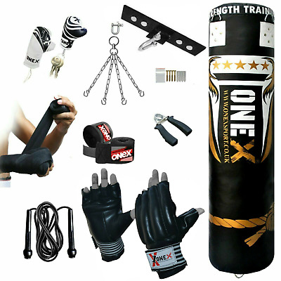 New 13 Piece 5Ft Punch Bag Set For MMA,Boxing and Fitness Training (equipment)