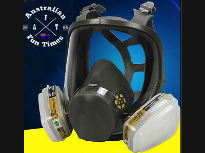 7 piece Suit Respirator Full Facepiece Gas Mask for Painting Spraying 3M 6800