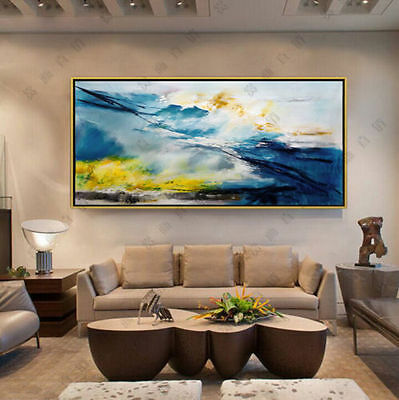 """Hand Painted on Canvas Modern abstract home Wall art Decor 24x48"""" no frame"""