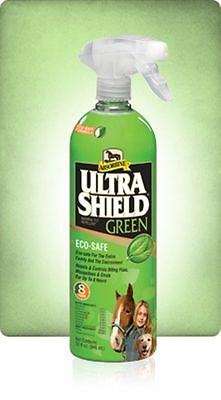 Ultra Shield ULTRASHIELD Green 32 oz Natural Horse Equine Dog Fly Spray