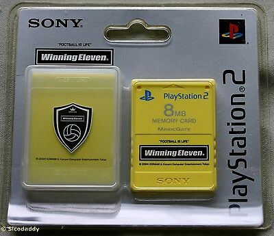 PS2 Winning Eleven 8MB Memory Card ( 2004 ) Brand New & Sony Factory Sealed