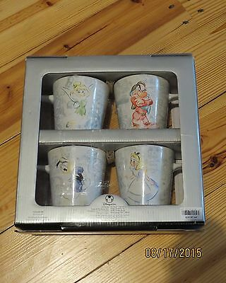 Disney Store Studio Collection Set Of 4 Mugs!  New In Box