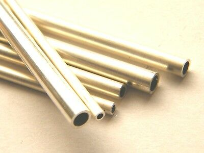 Sterling Silver Seamless Tube Straight Length Annealed 3.5mm dia.x 200mm length