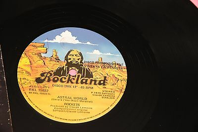 "Rockets 12"" Astral World Orig Italy Promo 1979 Ex !!  Toopppppp"