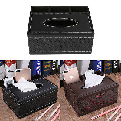 Creative PU Leather Wipes Paper Tissue Dispenser Holders Box Home Living Room