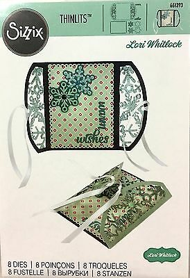 Sizzix Thin Framelits Die Set ~Gatefold Card Snowflakes Code 661393