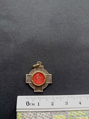 Priest's Belt Antique Cloth Touched Tongue St Anthony Relic Reliquary Rare!!