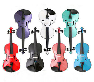 Solid wood Violin Maple Spruce with Case&Rosin instrument Multi-size Multicolor