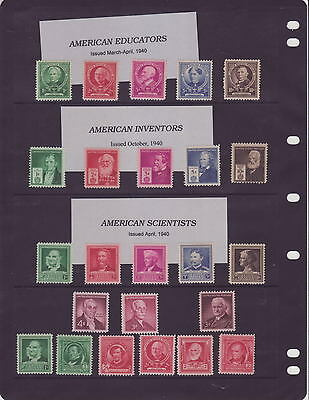USA Post Stamps 12 pages  Mint Condition, Early Issues, $$$$