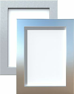 Photo Frame Picture Poster Frame Wide Profile Silver Chrome Colors Various Sizes