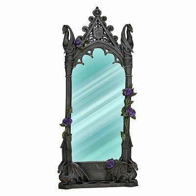 "Dragon Beauty Vanity Mirror by Anne Stokes 24"" Tall"