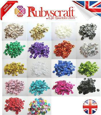 Pinflair Quality Cup 8g Sequins 6mm  - Choose the colour