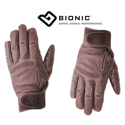 Women's Bionic Classic Grip Equestrian Gloves - Brown Leather Riding Gloves