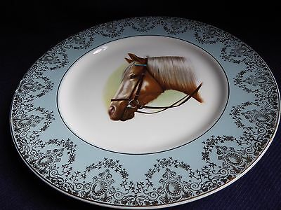 Grindley & Co. Broadhurst Bros. Ironstone Satin-White Horse Decorative Plate
