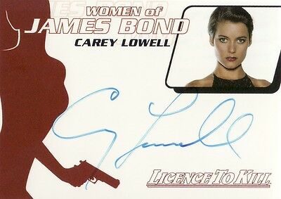 Quotable James Bond Carey Lowell as Pam Bouvier WA21 Auto Card